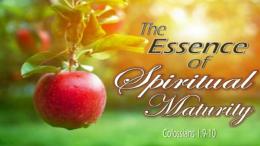 The Essence of Spiritual Maturity - PT 4